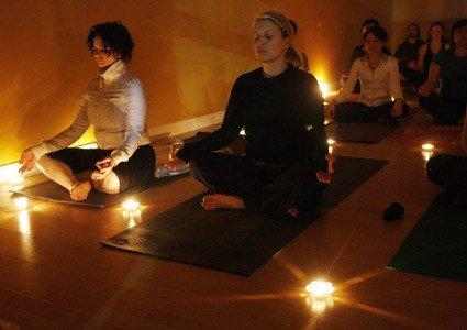 candle yoga